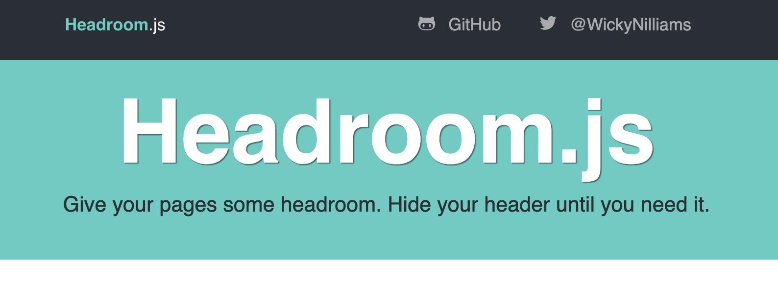 Headroom.js